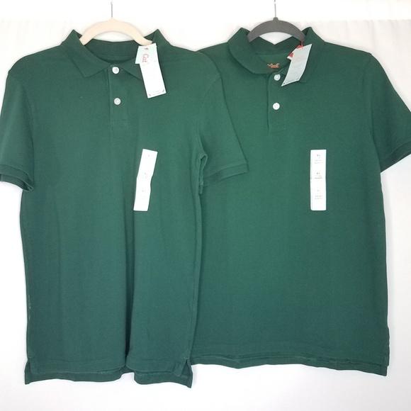 574892fb8 Cat & Jack Shirts & Tops   Nwt 2pk Cat Jack Green Uniform Polo Shirt ...